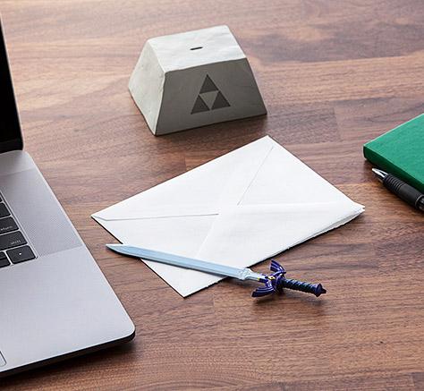 Legend of Zelda sword letter opener